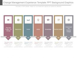 Change Management Experience Template Ppt Background Graphics