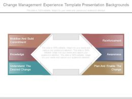 Change Management Experience Template Presentation Backgrounds