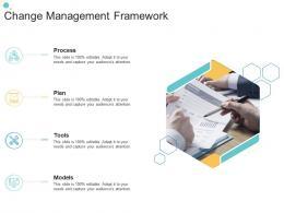 Change Management Framework Organizational Change Strategic Plan Ppt Infographics