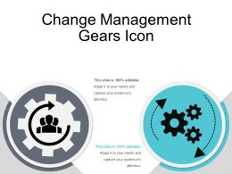 Change Management Gears Icon