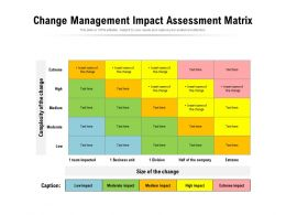 Change Management Impact Assessment Matrix
