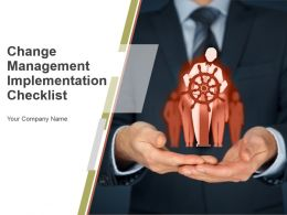 Change Management Implementation Checklist Powerpoint Presentation Slides
