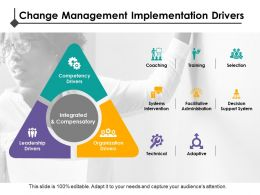 Change Management Implementation Drivers Competency Drivers Leadership Drivers Coaching