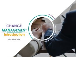 Change Management Introduction Powerpoint Presentation Slides