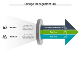 Change Management ITIL Ppt Powerpoint Presentation Slides Infographic Template Cpb