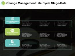 Change Management Life Cycle Stage Gate Process Automation Cpb