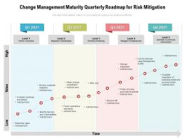 Change Management Maturity Quarterly Roadmap For Risk Mitigation