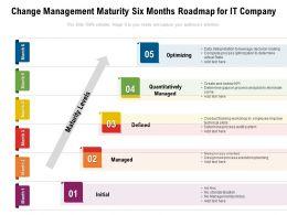 Change Management Maturity Six Months Roadmap For IT Company