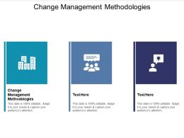 Change Management Methodologies Ppt Powerpoint Presentation Outline Background Cpb