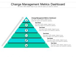 Change Management Metrics Dashboard Ppt Powerpoint Presentation Show Format Cpb