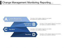 Change Management Monitoring Reporting Contingency Drawdown Reserve Management