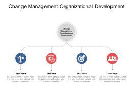 Change Management Organizational Development Ppt Powerpoint Presentation File Cpb
