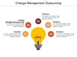 Change Management Outsourcing Ppt Powerpoint Presentation Pictures Example Introduction Cpb