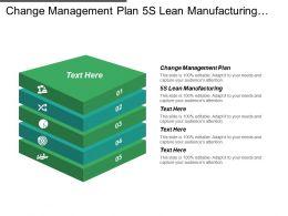 Change Management Plan 5 S Lean Manufacturing Change Management Problems Cpb