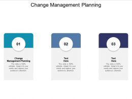 Change Management Planning Ppt Powerpoint Presentation Show Slide Download Cpb