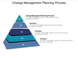 Change Management Planning Process Ppt Powerpoint Presentation Professional Deck Cpb