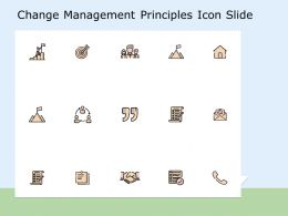 Change Management Principles Icon Slide Target Ppt Powerpoint Presentation Professional Mockup