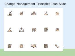 Change Management Principles Icon Slide Target Ppt Powerpoint Presentation Professional Mockup