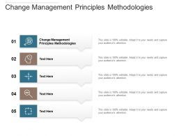 Change Management Principles Methodologies Ppt Powerpoint Presentation Model Samples Cpb