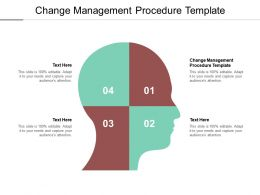 Change Management Procedure Template Ppt Powerpoint Presentation Inspiration Cpb