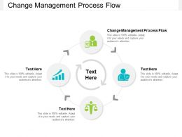Change Management Process Flow Ppt Powerpoint Presentation Gallery Graphics Tutorials Cpb