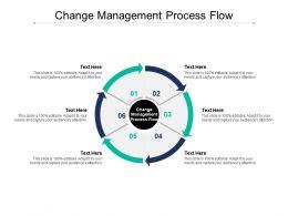 Change Management Process Flow Ppt Powerpoint Presentation Model Cpb