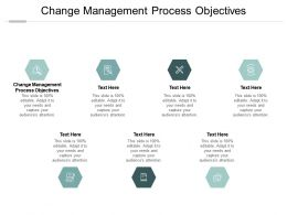 Change Management Process Objectives Ppt Powerpoint Presentation Infographics Portfolio Cpb