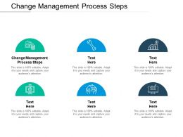 Change Management Process Steps Ppt Powerpoint Presentation Template Cpb