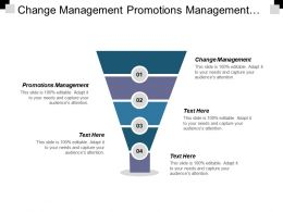 Change Management Promotions Management Lean Six Sigma Performance Management Cpb