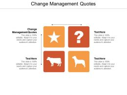 Change Management Quotes Ppt Powerpoint Presentation Show Graphics Cpb