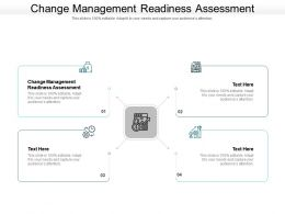 Change Management Readiness Assessment Ppt Powerpoint Presentation Gallery Ideas Cpb