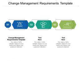 Change Management Requirements Template Ppt Powerpoint Presentation Show Designs Cpb