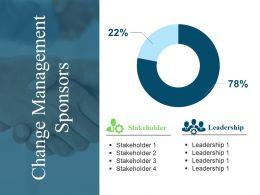 Change Management Sponsors Powerpoint Slide Rules