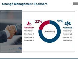 Change Management Sponsors Ppt Summary