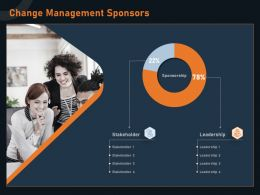 Change Management Sponsors Stakeholder M1269 Ppt Powerpoint Presentation Styles Icon