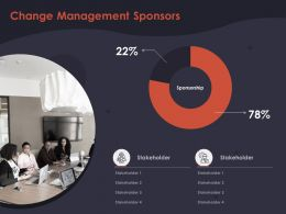 Change Management Sponsors Stakeholder Ppt Powerpoint Presentation Infographic Template Inspiration