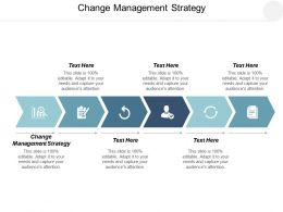 Change Management Strategy Ppt Powerpoint Presentation Layouts Layout Ideas Cpb