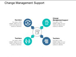 Change Management Support Ppt Powerpoint Presentation Professional Display Cpb