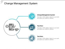 Change Management System Ppt Powerpoint Presentation Gallery Inspiration Cpb