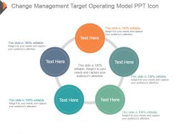 Change Management Target Operating Model Ppt Icon