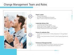 Change Management Team And Roles Project Implementation Management In Enterprise Ppt Show