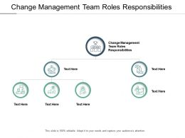 Change Management Team Roles Responsibilities Ppt Powerpoint Presentation Slides Skills Cpb