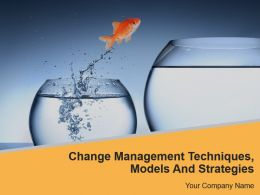 Change Management Techniques Models And Strategies Powerpoint Presentation Slides