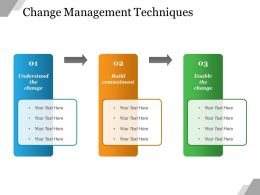 Change Management Techniques Powerpoint Slide Designs