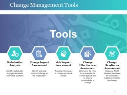 Change Management Tools Ppt Background