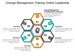 Change Management Training Online Leadership Ppt Powerpoint Presentation Gallery Styles Cpb