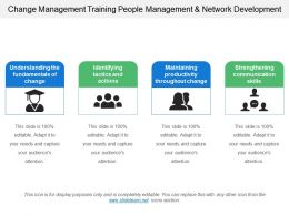 Change Management Training People Management And Network Development