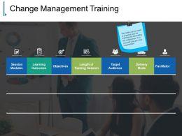 Change Management Training Powerpoint Slide Show