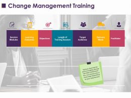 Change Management Training Ppt Layouts Sample