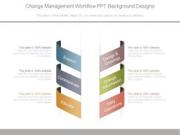 Change Management Workflow Ppt Background Designs